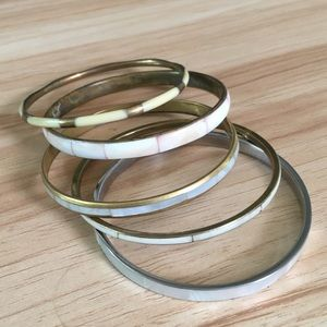 Vintage mother of pearl bangle lot